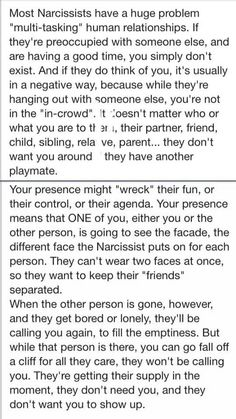 Multi-tasking relationships............................oh my holy hell... i said this. so many times. dani said this. john... we all said this. everyone had their own little compartment. and eventually we all quit trying because of all the lies and half truths... this makes me sick. literally ill. this is sickening... fml