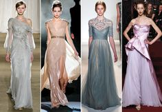 From theknot.com:  1920's/The Great Gatsby fashion trend in wedding gowns - I love the off the shoulder dress!