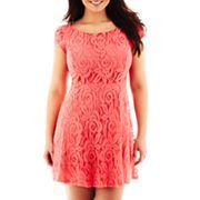 Lace Fit-and-Flare Dress - Plus