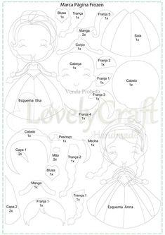 Elsa Fans Products For Your Favorite Frozen Character Elsa Frozen, Frozen Felt, Felt Doll Patterns, Quiet Book Patterns, Stuffed Toys Patterns, Felt Diy, Felt Crafts, Sock Crafts, Felt Dolls
