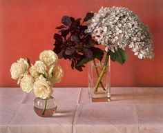 """Born in Chile, November 1936 in the town of Valparaíso, Claudio Bravo has lived and worked in Tangier, Morocco since In Ikebana, Amy Sol, Claudio Bravo, Still Life 2, Realistic Paintings, Container Flowers, Arte Floral, Museum Of Modern Art, Painting & Drawing"