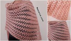 14 MODELLİ HAVALI ETOL ŞALI YAPILIŞ DETAYLARI   Nazarca.com Slip Stitch Knitting, Knitting Yarn, Beautiful Bags, Beautiful Patterns, Crochet Shawl, Crochet Stitches, Vogue Knitting, Pullover Designs, Knitting Magazine