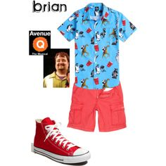 brian, avenue q by sg822 on Polyvore featuring Riot Society, True Religion, Converse and Avenue