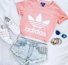 Pink Adidas shirt with matching shoes. - Addidas Shirt - Ideas of Addidas Shirt - Pink Adidas shirt with matching shoes. Hipster Outfits, Teenage Outfits, Tumblr Outfits, Teen Fashion Outfits, Outfits For Teens, Tween Fashion, Tumblr Clothes, Fashion Clothes, Fashion Women