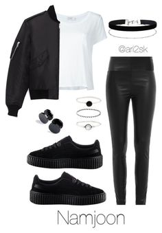 In the city - Namjoon by ari2sk on Polyvore featuring polyvore, fashion, style, Frame Denim, Yves Saint Laurent, Zadig & Voltaire, Accessorize, Miss Selfridge, Puma and clothing