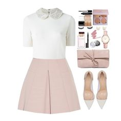 """""""Have a nice time."""" by krys-imvu on Polyvore featuring Alice + Olivia, Gianvito Rossi, Alexander McQueen, LULUS, Topshop, Kenneth Jay Lane, Dolce&Gabbana, Smith & Cult, Marc Jacobs and Essie"""