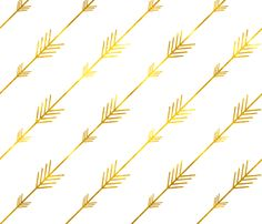 Gold Arrows fabric by willowlanetextiles on Spoonflower - custom fabric