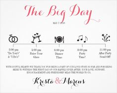 Wedding Itinerary Template - 11 Free Word, PDF Documents Download | Free & Premium Templates