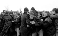 """The miner's strike In 1984, the proposed closure of 20 mining pits by Margaret Thatcher's government caused thousands of miners, mainly in Wales and the North of England, to go on strike. The protest, which lasted for over a year, sharply divided public opinion and pushed many of the families involved into extreme poverty."" (The Telegraph)"