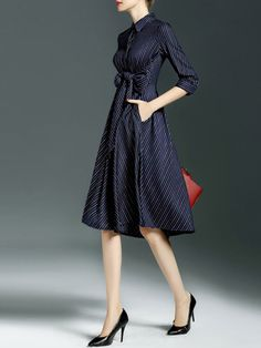 Paneled Bow Midi Dress