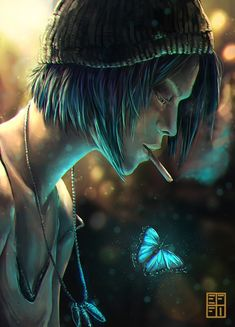Chloe Price / Life is Strange Chloe Price, Life Is Strange Fanart, Life Is Strange 3, Character Inspiration, Character Art, Arcadia Bay, Blue Haired Girl, Butterfly Drawing, Detroit Become Human