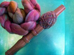 Nostepinne & Handpainted, Handspun Merino Wool
