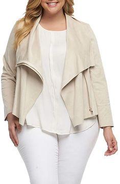 5205b468dced8 Tart Sayna Drape Front Asymmetrical Jacket (Plus Size)