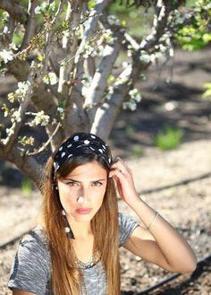 """""""Amanda"""" Polka Dotted Headband"""