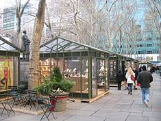 Bryant Park - Holiday shopping mall booths