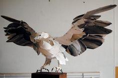 Landing eagle Paper Sculpture
