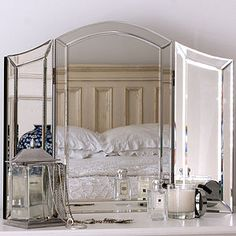 All Glass Dressing Table Mirror - mirrors
