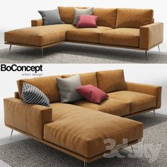 Corner Sofa - What You Should Know Prior To Buying Furniture For Your Residence Corner Sofa Design, Living Room Sofa Design, Bed Design, Living Room Designs, Sofa For Living Room, Modern Sofa Designs, Sofa Set Designs, Boconcept Sofa, L Shaped Sofa Designs