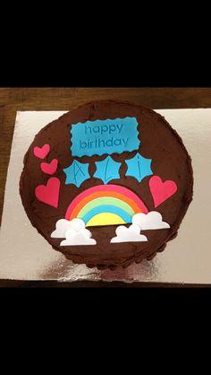 Customised cake #rainbow #chocolate #love #whippedwithlove #birthday