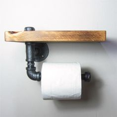 Industrial/Urban Iron Pipe Toilet Roll Holder