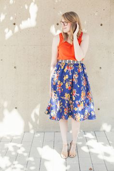 endless #anthrolove for this colorful floral midi skirt!