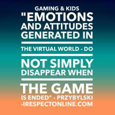Be aware that studies show that violent games continue to affect children after game play.  Choose wisely.  www.irespectonline.com