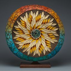 """Wildflower"" gourd by Mark Doolittle."
