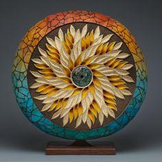 """""""Wildflower"""" gourd by Mark Doolittle."""