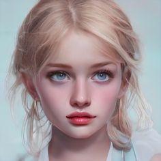 Digital Art Girl, Digital Portrait, Portrait Art, Character Portraits, Character Art, Fantasy Girl, Anime Art Girl, Face Art, Pretty People