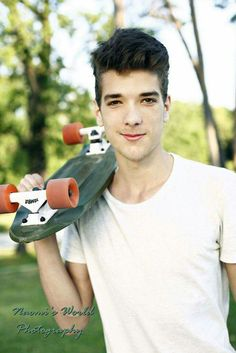 This guy really love his skateboard :)