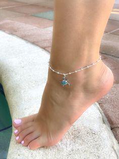 Opal Ankle bracelet-Sterling Silver Anklet-Opal Anklet-turtle Ankle bracelet,beaded Anklet-Dainty An Silver Ankle Bracelet, Ankle Jewelry, Ankle Bracelets, Jewelry Bracelets, Sterling Silver Anklet, Silver Anklets, Beaded Anklets, Beautiful Toes, Pretty Toes