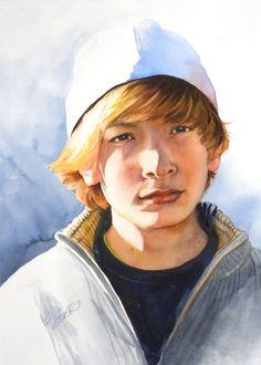 Very good watercolor portrait