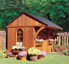 Garden Sheds traditional sheds- Could be converted into a guest house?! Such a cute idea and I love the design. This site is great and there is a ton of different sheds of all sorts of styles. So Great!