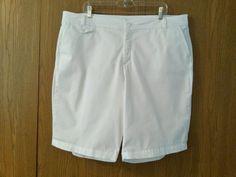 Dockers Collection Women's White Khaki Shorts with Tummy Control Panels Size 22W #DockersCollection #DressKhakiShorts