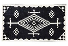 Beautiful black and white beach towel from Pendleton