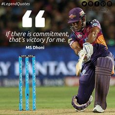 If only commitment alone won you matches! #Cricket #Quotes #Dhoni #RPS #IPL #IPL2016 #LegendQuotes