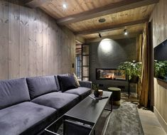 Modern Cabin Interior, Modern Rustic Homes, Home Technology, Indoor Outdoor Living, House In The Woods, Open House, House Styles, Wood Homes, Room