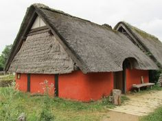 Viking Thatched Roof Building | by Atelier Teee.  Replica Viking building at the Viking Center of Ribe, Denmark.