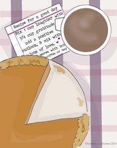 My Recipe for A Good   Inspirational Art by RoseHillDesignStudio