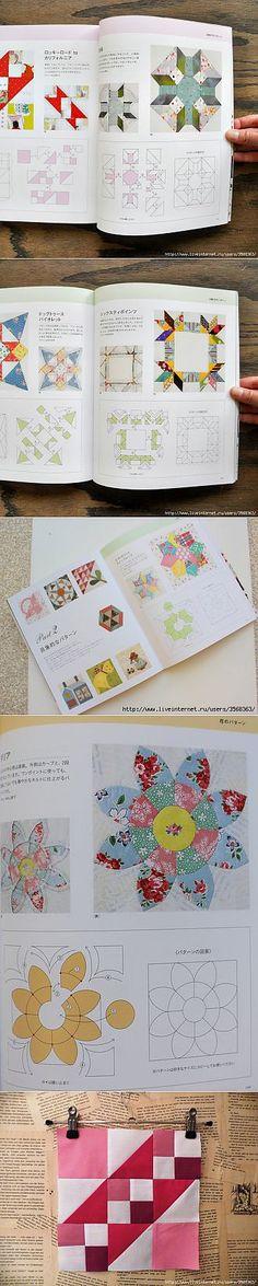 Japán könyv patchwork blokkok ..