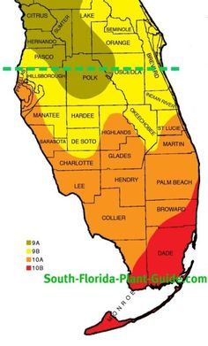 Plant Zone Map for South Florida South-Florida-Plant-Guides plant zone map is a good indicator of what winter temperatures you can expect where YOU live...and what plants will work for you.