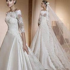 Csipke  Esküvői ruha menyasszonyi ruha XXS-XL NB8555