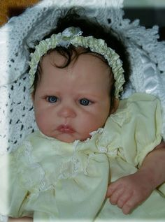 Adeline is a Solid Platiunum Silicone doll by Donna lee Originals