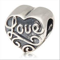 Love Hearts Authentic Sterling Silver Charm Love