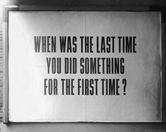 last time | first time