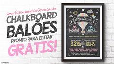 Chalkboard Balão de Ar Quente Grátis para Imprimir
