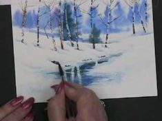 Painting Watercolor Winter Landscape Cards with Susie Short