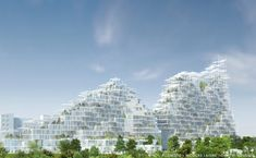 """Image 1 of 11 from gallery of Sou Fujimoto, Nicolas Laisné and Dimitri Roussel to Build sqm """"Village Vertical"""" in Grand Paris. © Sou Fujimoto, Nicolas Laisné and Dimitri Roussel Sou Fujimoto, Social Housing Architecture, Futuristic Architecture, Facade Architecture, Classical Architecture, Residential Architecture, Landscape Architecture, Family Office, Indoor Waterfall"""