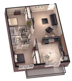 I Bedroom House Plan . I Bedroom House Plan . Vastu Model House Plan House and Home Design 3d House Plans, Modern House Plans, Small House Plans, Sims 3 Houses Plans, Bungalow House Plans, Two Bedroom Tiny House, 2 Bedroom House Plans, Bedroom Small, Extra Bedroom