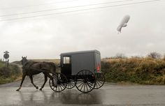 A military JLENS blimp from the United States Army broke loose from its moorings in Maryland and drifted over 16000 ft above Pennsylvania. F-16 Fighter jets were scrambled to track the blimp that has since deflated causing widespread power outages from a long cable it dragged along the ground.  Photo: Jimmy May / Bloomsburg Press Enterprise via AP